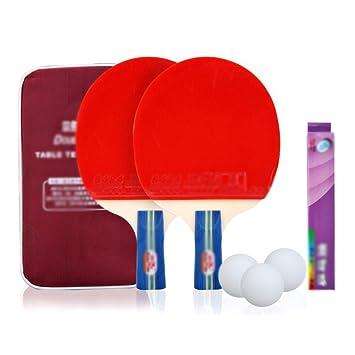 xianw 2 Ping Pong Paddle - Juego de Raqueta de Tenis de Mesa ...