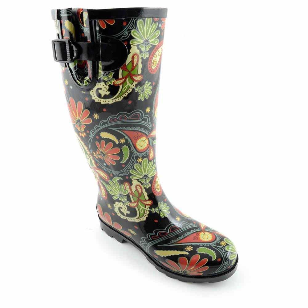 Women's Corkys, Sunshine rubber Rain Boots PAISLEY 11 M