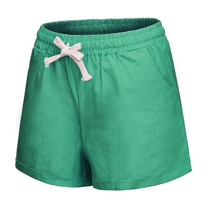 YKARITIANNA Women Plus Size 2019 Pocket Bandage Solid Shorts, Summer Running Sports Wide Leg Causal Sexy Home Fitness Short Pants