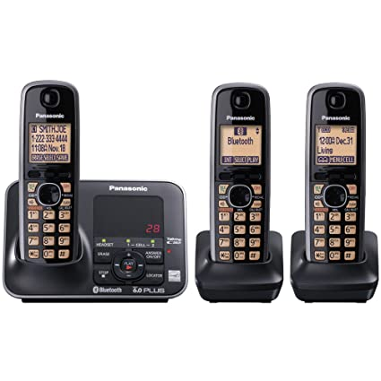 amazon com panasonic kx tg7623b dect 6 0 link to cell via bluetooth rh amazon com