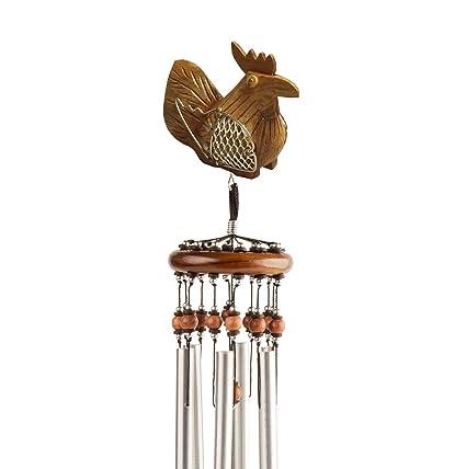 Amazon.com: Talismán de la suerte carillones de viento pollo ...