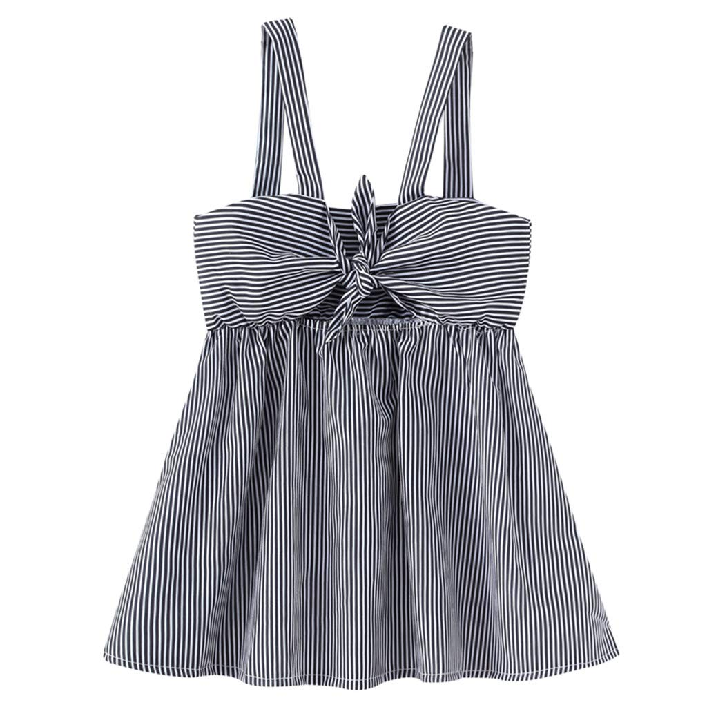 Baby Kid Girls Stripe Condole Belt Skirt Princess Dresses Casual Clothes WOCACHI Toddler Baby Girls Dresses