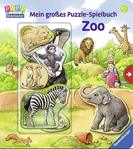 Mein großes Puzzle-Spielbuch Zoo
