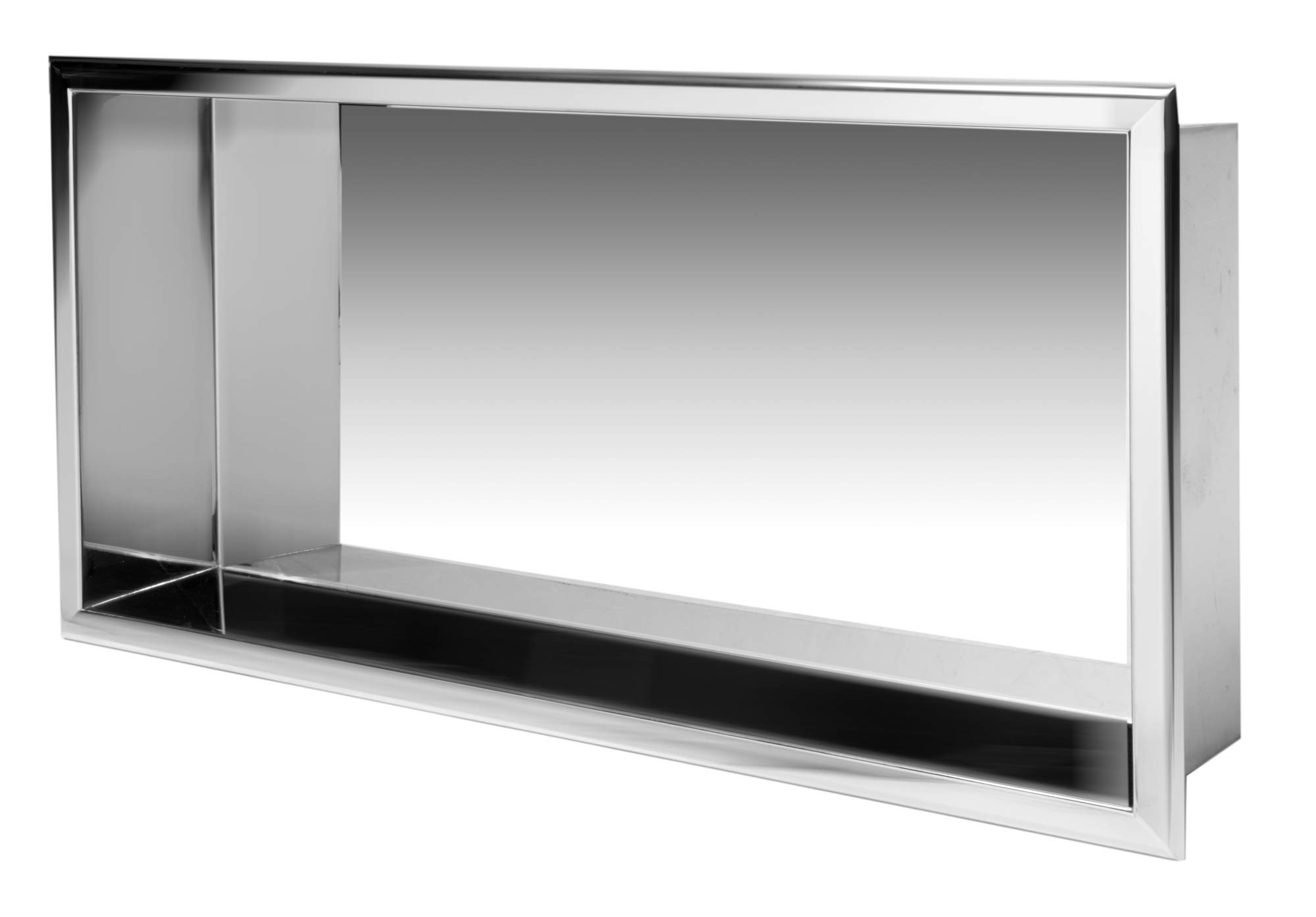 ALFI brand ABN2412-PSS Shower Niche, Polished Stainless Steel by Alfi (Image #7)
