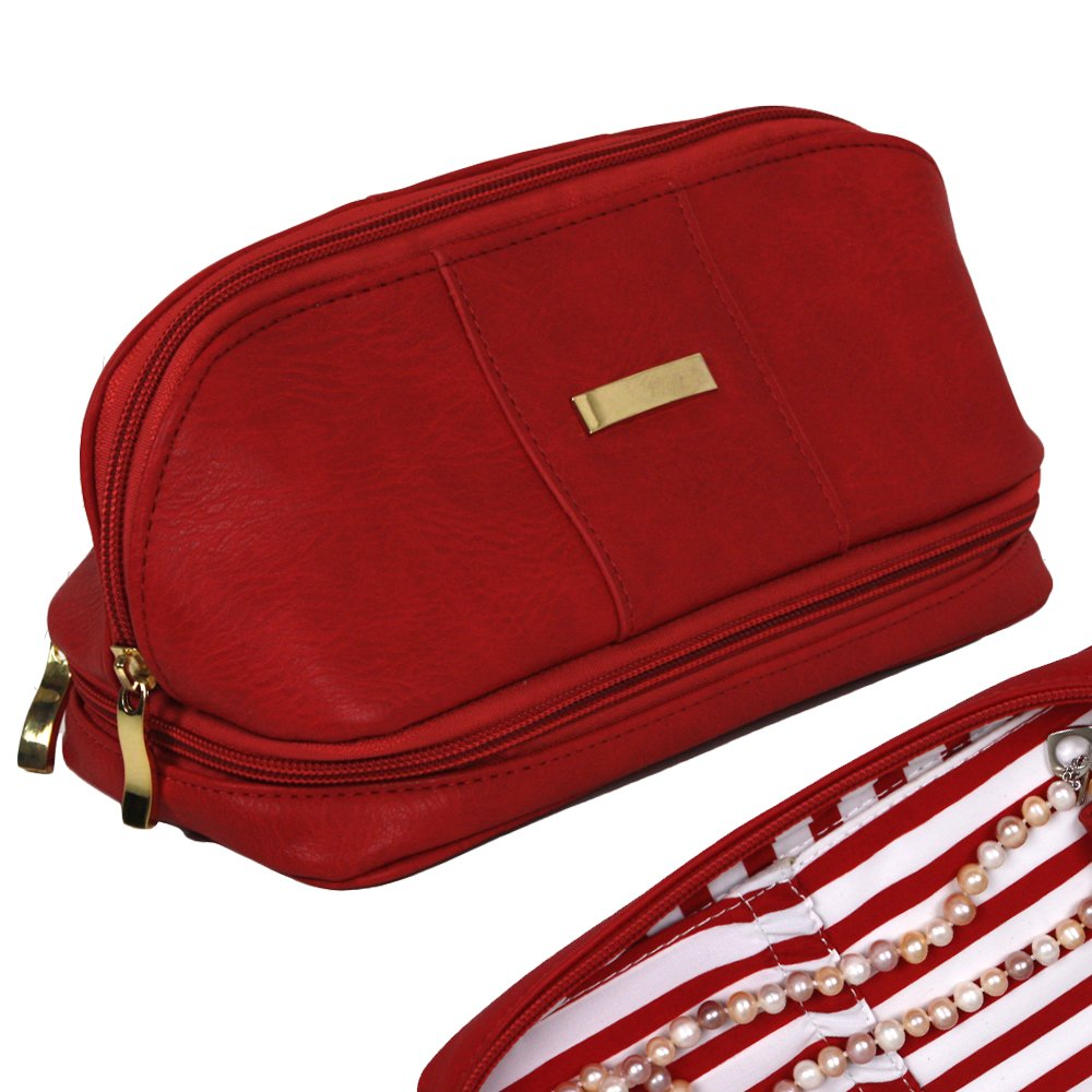 The Weekender Personal Travel Makeup and Jewelry Case Organizer