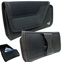 Niteize rugged horizontal Wallet Case fits Samsung Galaxy Note 3 with Otterbox Defender Case on it.