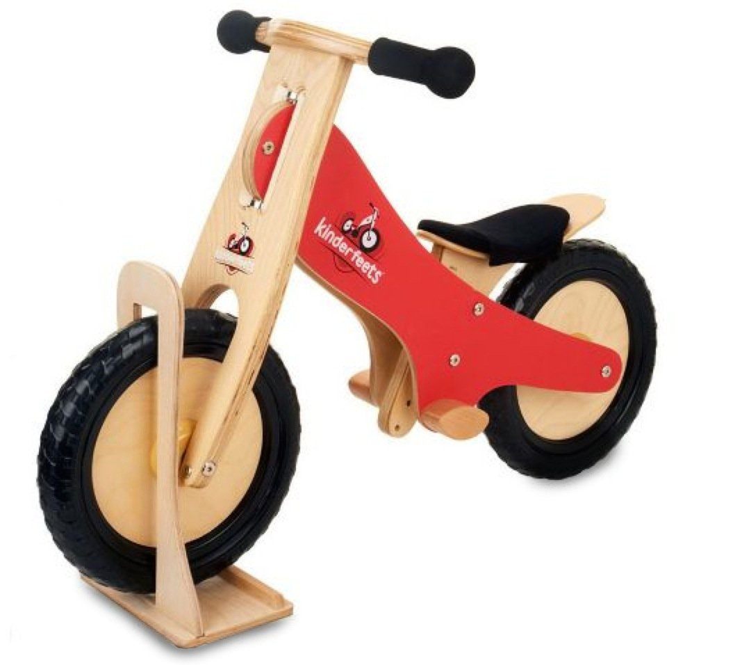 Kinderfeets Wooden Bike Stand, Natural
