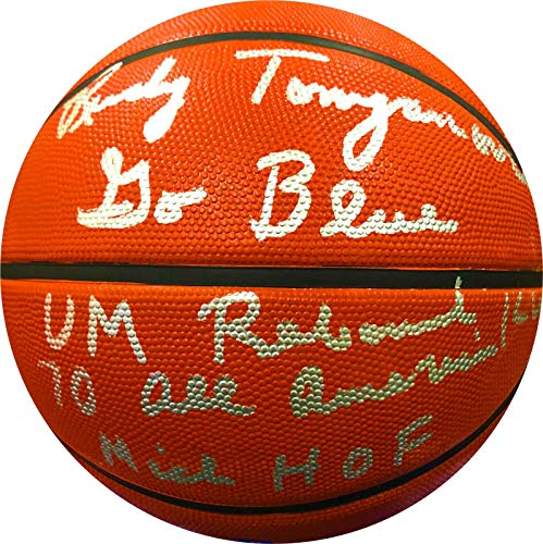 Rudy Tomjanovich Autographed Basketball - Wilson NCAA Michigan Wolverines Proof - JSA Certified - Autographed Basketballs