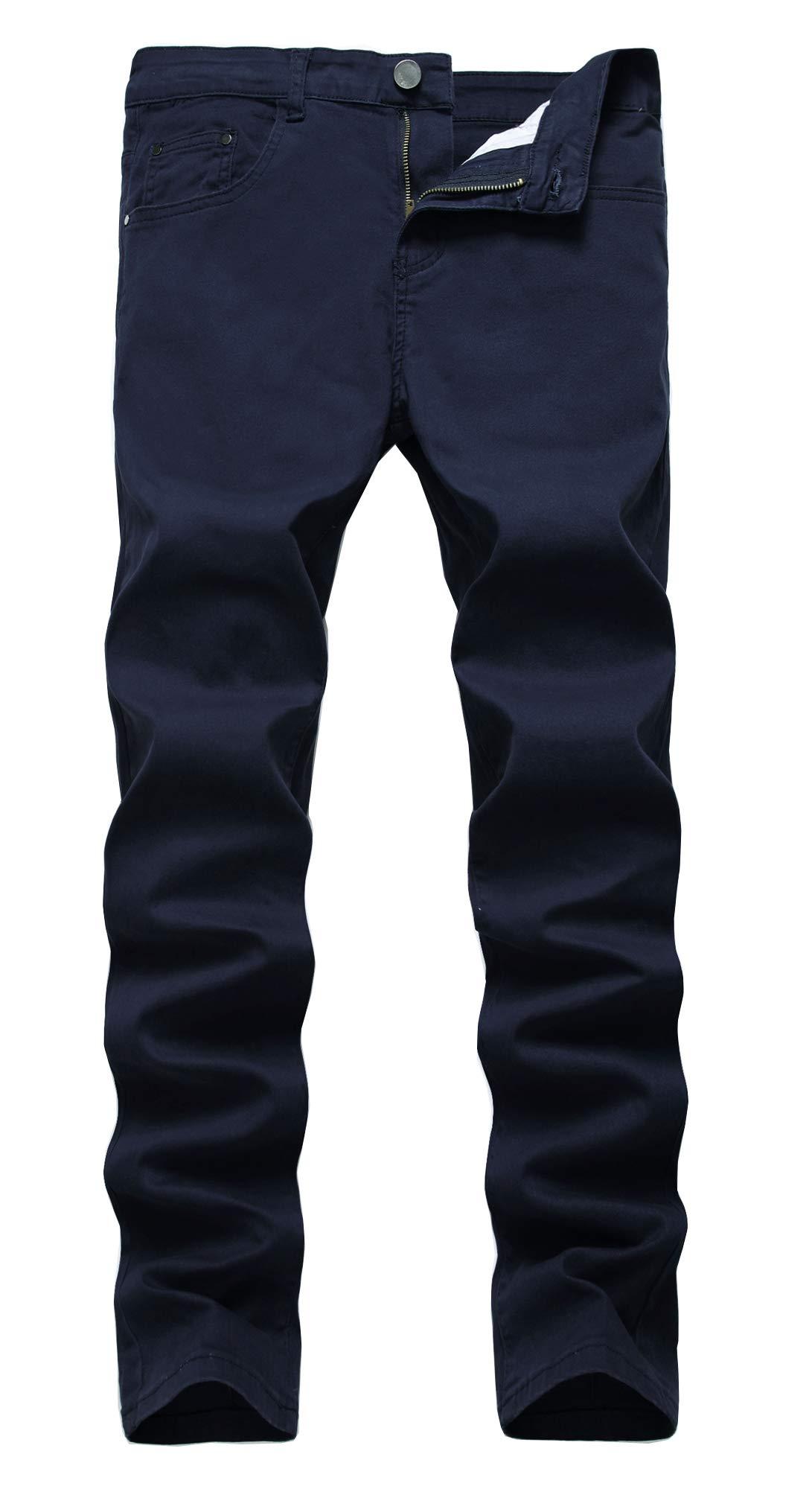 NITAGUT Men's Skinny Slim Fit Stretch Comfy Fashion Denim Jeans Pants (US 33, Dark Blue)