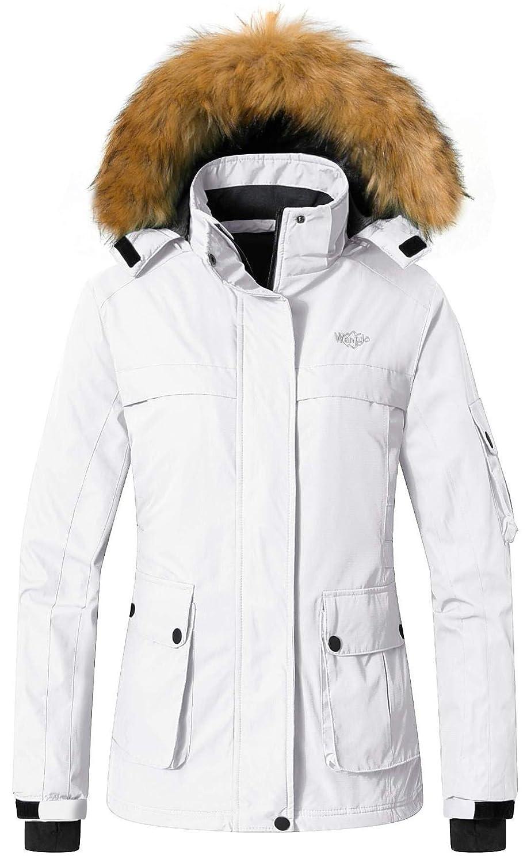 Wantdo Damen Warme Parka Mountain Ski Fleece-Jacke wasserdicht winddicht Winter-Regen-Mantel