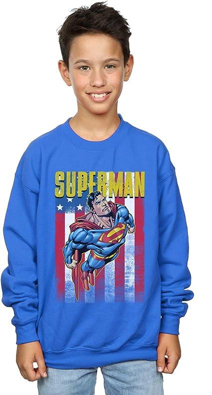 Boys Girls Lego Super Heroes Batman DC Comics Kids Sweatshirt Jumper Age 5-6 Years Blue