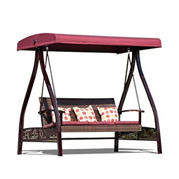 Rocking chair Silla Giratoria para Columpios para Exteriores ...