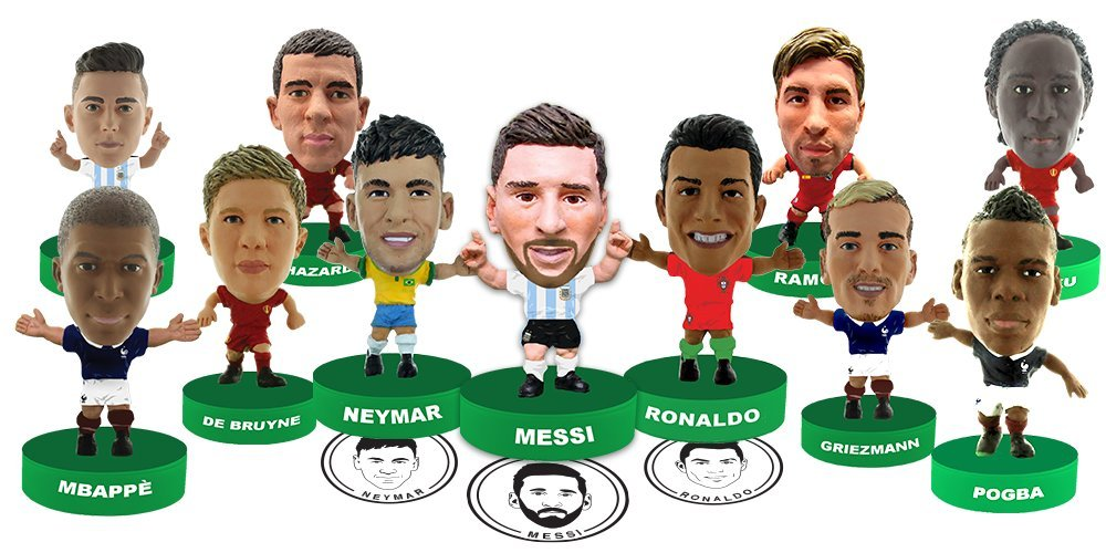 SoccerStarz Action Stampers Set of 11 – Best Soccer Stars in The World Featuring Neymar, Messi, Ronaldo, & All Your Other Favorite Soccer Players – All Star Soccer Set from The 2018 Football Mundial