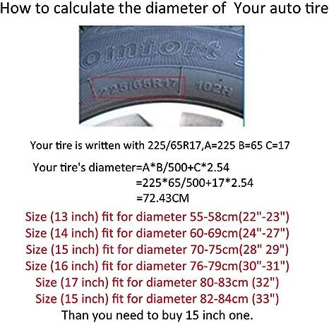 Mdurian 14 Zoll Schwarz Reserveradabdeckung Reifencover Für Alle Durchmesser 60cm 69cm 24 27 Anhänger Auto Universal Pvc Wasserdicht Staubdichter Schutz Auto