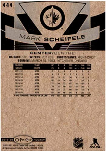 Amazon Com 2019 20 Opc O Pee Chee Hockey 444 Mark Scheifele Winnipeg Jets Official Nhl Upper Deck Trading Card Collectibles Fine Art