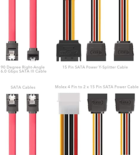 Amazon Com Sata Cable Inateck Sata Data Cable And Sata Power Splitter Cable St1003