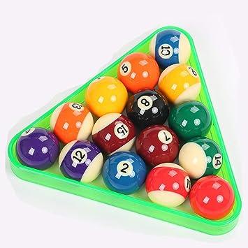 WXS 3 Colores plástico 2 1/4 Pulgadas (57.2 mm) 15 Bolas Billar Triángulo American Spots & Stripes Bolas de Piscina y triángulo (Color : Green): Amazon.es: Deportes y aire libre
