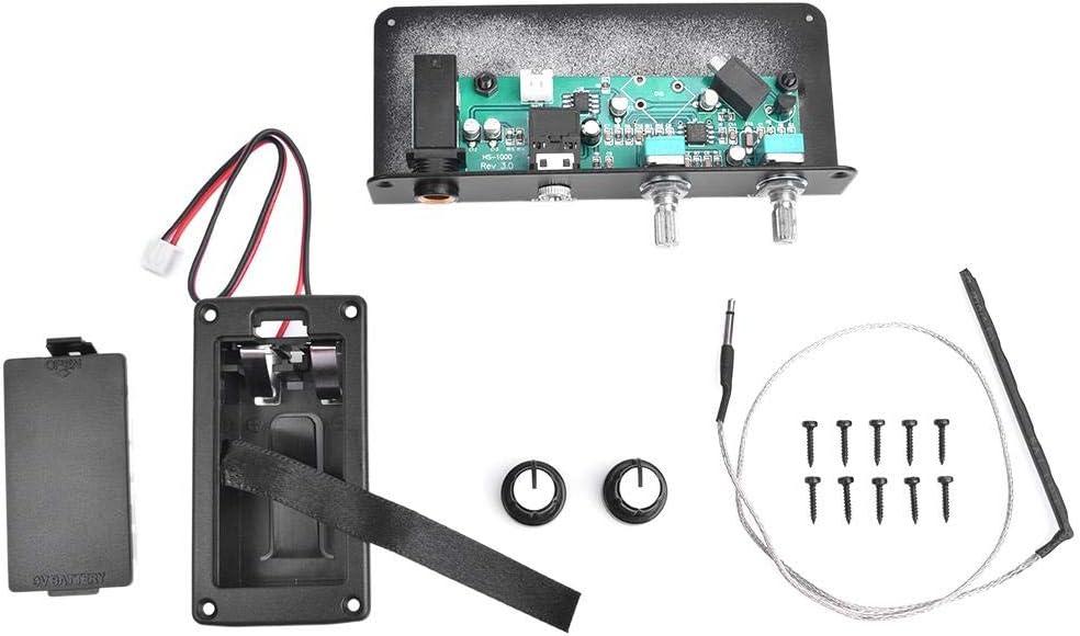 Wetour - Kit de fonocaptor acústico para Guitarra eléctrica, Color Negro