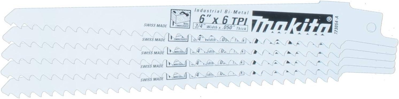 "MAKITA 723016-3-B 6/"" RECIPROCATING SAW BLADES 3 PIECE VARIETY PACK SWISS MADE"