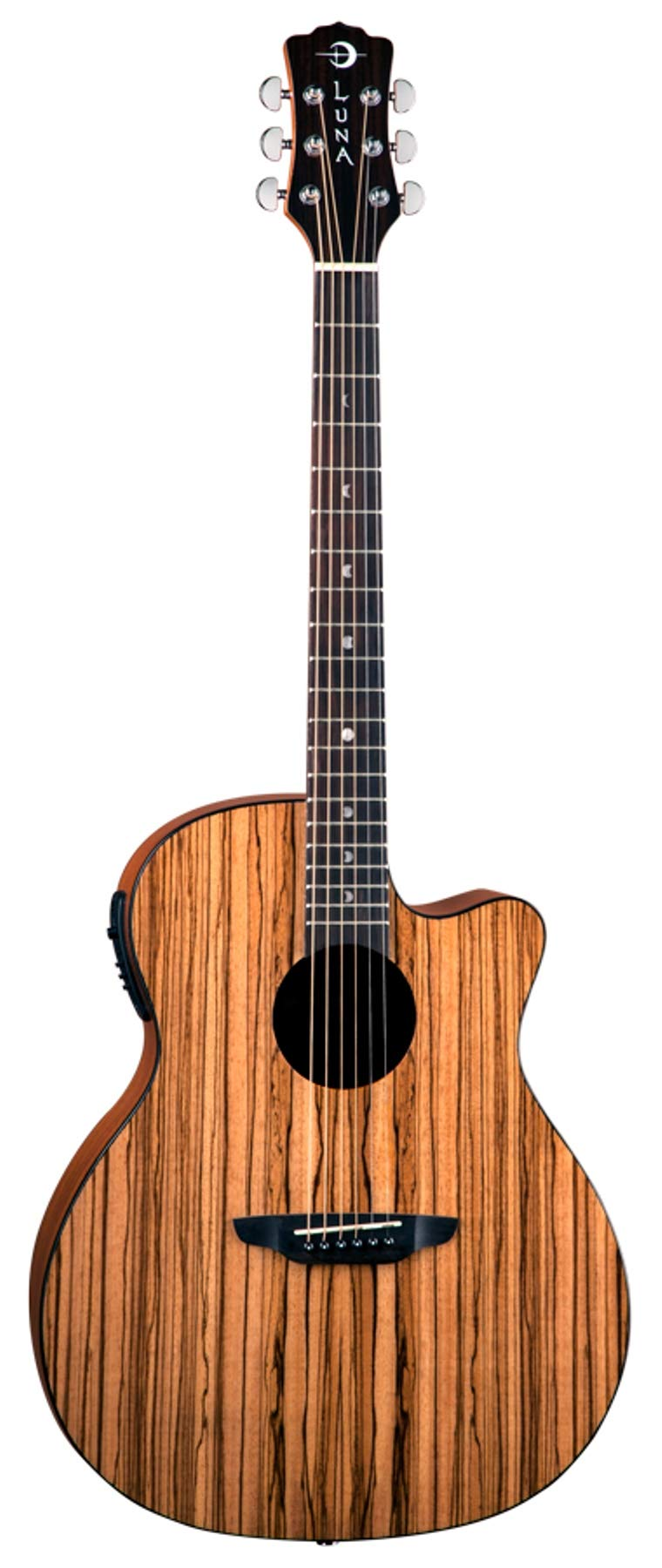 Luna GYP E ZBR Acoustic-Electric Guitar, Gloss Natural by Luna Guitars