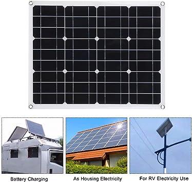 Lixada DC5V / DC18V 40W Cargador Panel Solar Portátil ...