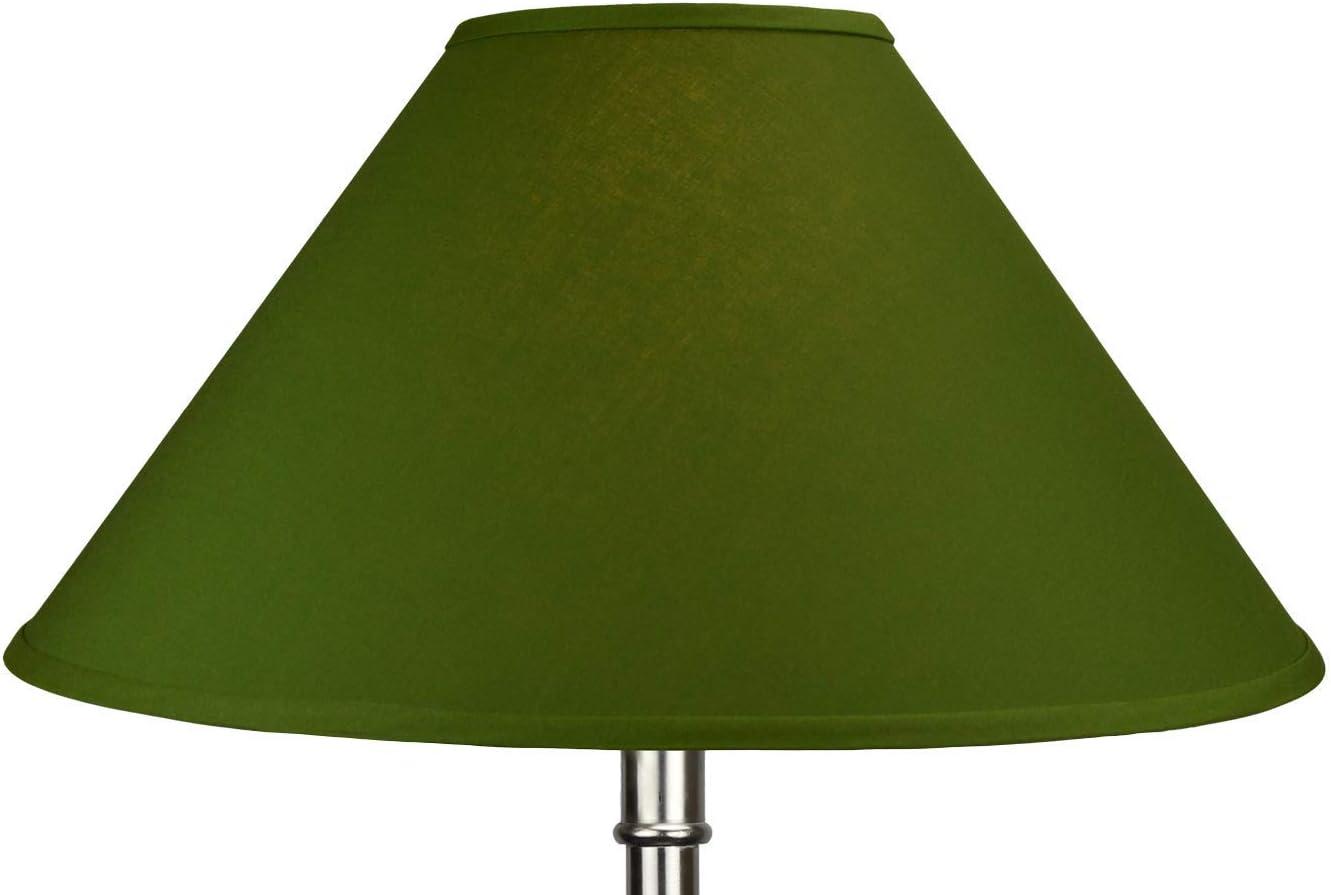 Fenchelshades Com 7 Top Diameter X 22 Bottom Diameter 13 Slant Height Lampshade Usa Made Avocado Amazon Com