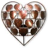 Thai Gifts Love-Heart Ornament Wall Art Tealight Holder/Sconce - Bronze