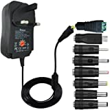 AC DC Power Adapter 3V 4.5V 5V 6V 7.5V 9V 12V 1A 2A Multi Voltage Switching Power Supply Charger for Household Electronic Devices Routers Speakers LCD CCTV Cameras TV box Radio and Other Devices