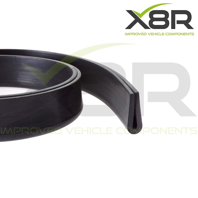 X Grand Caoutchouc U Canal Bordure Bordure Noir Joint /à Clipser Deep 2mm 3mm Panneau