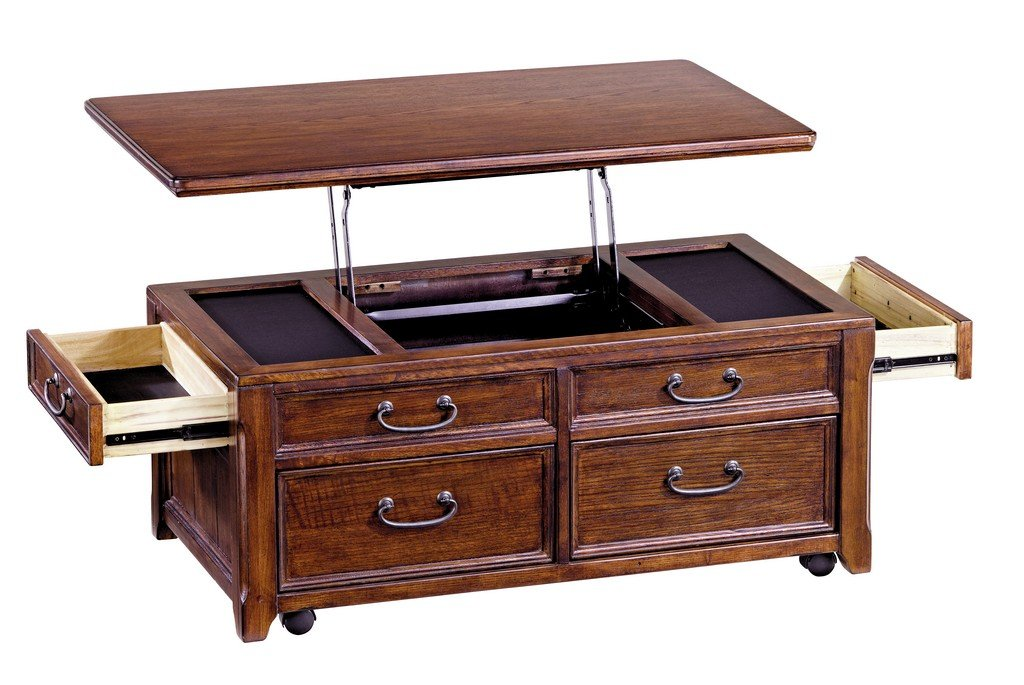Wonderful Amazon.com: Ashley Furniture Signature Design   Woodboro Lift Top Coffee  Table With End Drawers   Rectangular   Dark Brown: Kitchen U0026 Dining