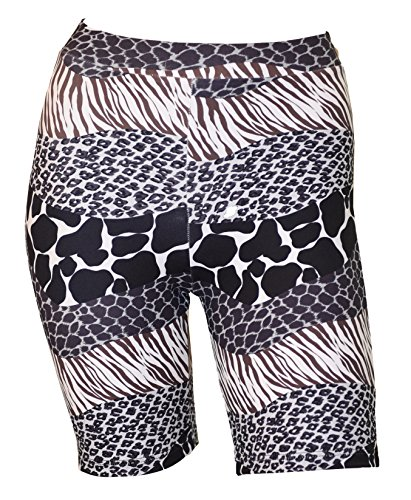 Private Island Hawaii UV Women Rash Guard Skinny Shorts Pants (X-Large, Anaconda)