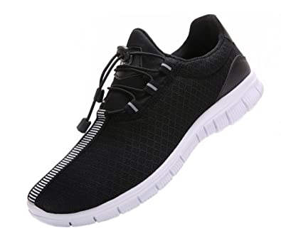 7 Fashion Men's Fashion Sneakers Fitness Running Shoes Casual Mesh Soft Sole Lightweight Breathable White