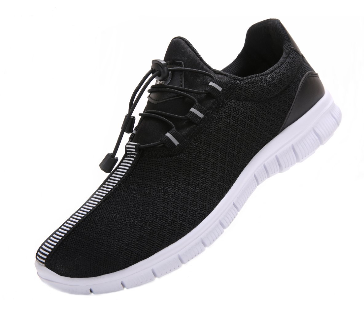 JUAN Men's Running Shoes Fashion Breathable Sneakers Mesh Soft Sole Casual Athletic Lightweight (11US/45EU,Men, Black) by JUAN