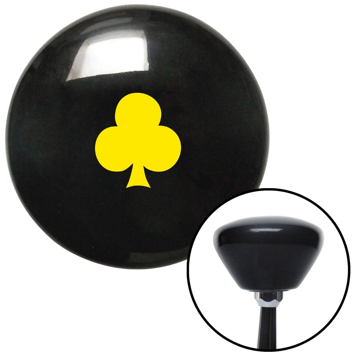 American Shifter 280978 Shift Knob Yellow Clubs Black Retro with M16 x 1.5 Insert