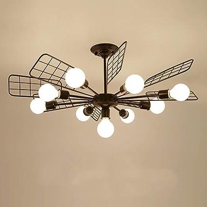 DEED Araña de Techo-Iluminación Luces de Ventilador Retro ...