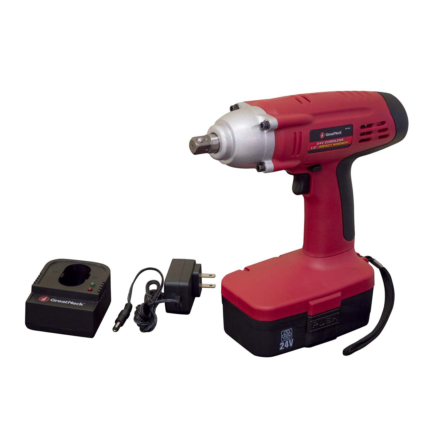 GreatNeck 24V Cordless 1/2 Drive Impact Wrench