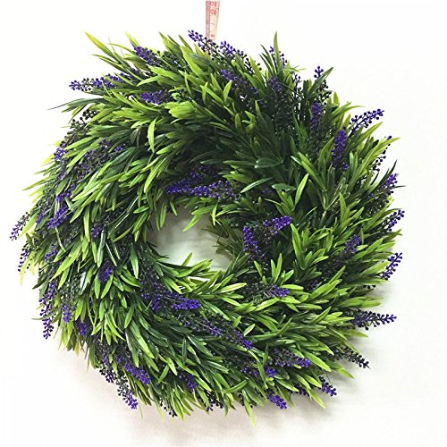 BB Purple New Door Hanging Window Wall Lavender Flower Garlands Wreath Home Garden Decor (Hello Kitty Fruit Arrangement)