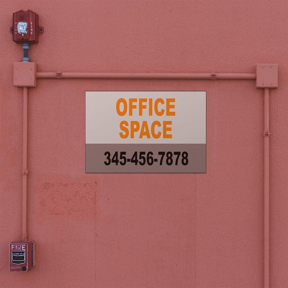 Custom Door Decals Vinyl Stickers Multiple Sizes Office Space Phone Number Grey Orange Business Office Space Outdoor Luggage /& Bumper Stickers for Cars Brown 24X16Inches Set of 10