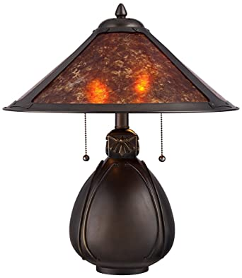 Nell Arts And Crafts Pottery Mica Shade Table Lamp Amazon Com