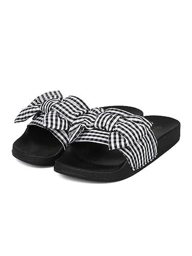 1417090bd3ae Wild Diva Women s Embellished Pearl Faux Fur Platform Wedge Slide Sandal  (5