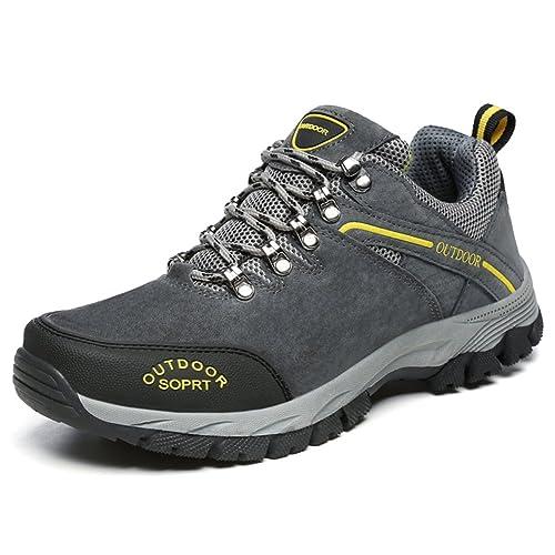 JOYTO Zapatillas de Senderismo Trekking Para Hombre Outdoor Escalada Montaña Zapatos de Deporte Gris Marrón Ejercito Verde 39-48: Amazon.es: Zapatos y ...