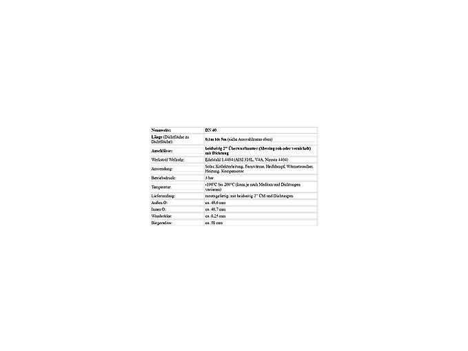 "DN32 Edelstahlwellrohr 1 1//2/""ÜM  Solarleitung Solarrohr Wellrohr Solar bis 5m"