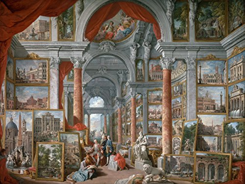 Museum gallery of pictures II by Giovanni Paolo Panini Accent Tile Mural Kitchen Bathroom Wall Backsplash Behind Stove Range Sink Splashback One Tile 8