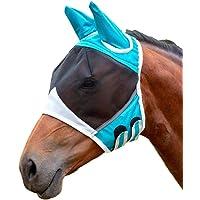 Lixinke Mascaras de Halloween Máscara Disfraz Horse Fly Mask, Summer Pet Horse Mask Eye Anti Mosquito Ear Protective Ear Ergonomics Mesh Fly para Halloween Cosplay Festival Fiesta