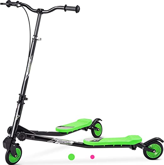 Merax Kids 3 Wheels Foldable Swing Dragon Tri Scooter Winged Push Motion, 3-10 Years Old, Boys and Girls Scooter