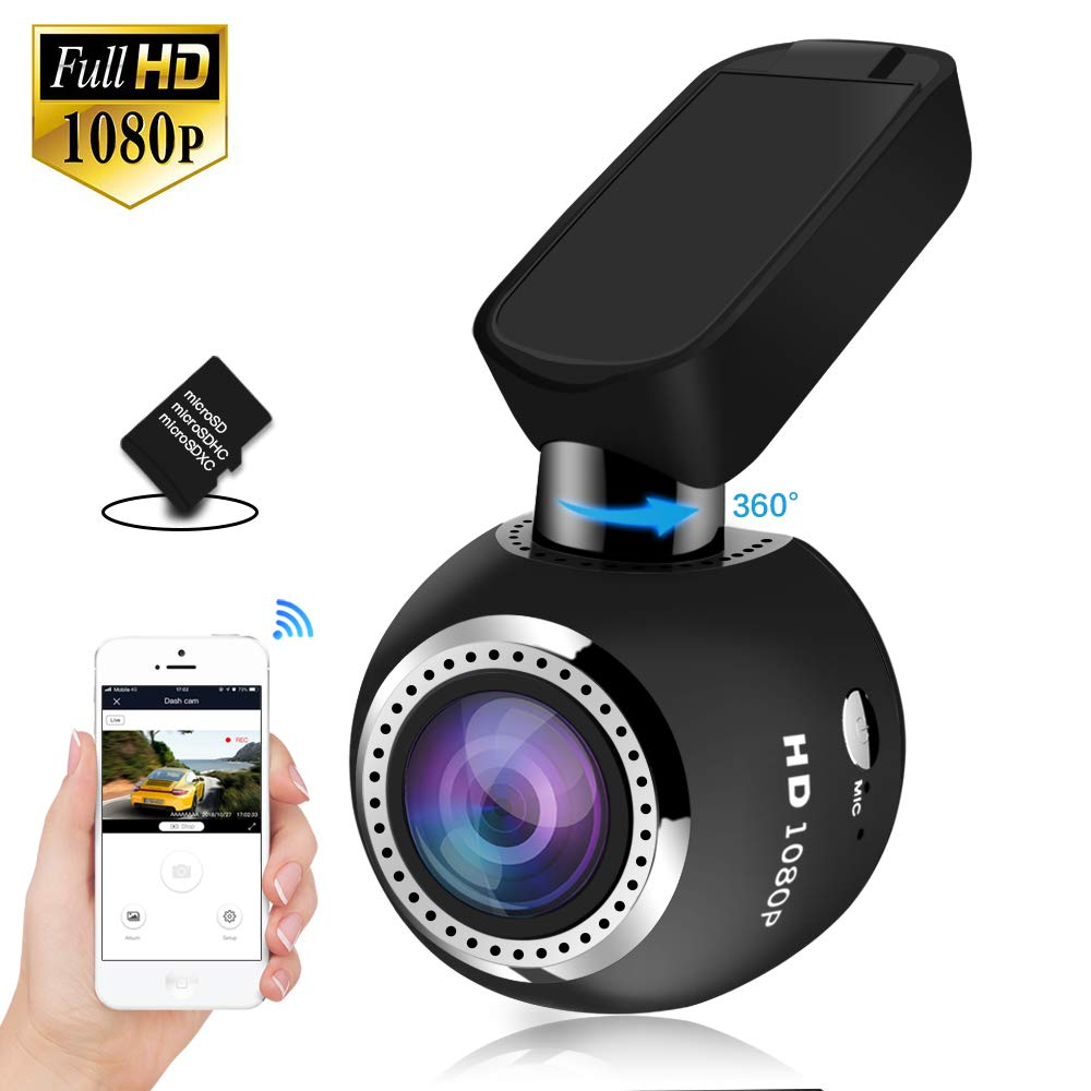 "Dash Camera,SIV Vehicle Dash Cam Full HD 1080P Dash Cam,WiFi Car Dash Cam 1.54"" LCD 170 Degree Extra Wide View Angle, with Sony Exmor Image Sensor, G-Sensor, WDR,Loop Recording(Include TF Card)"