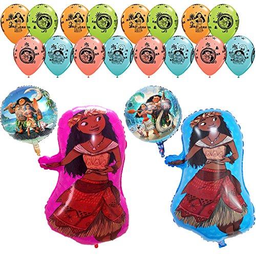 [Moana Birthday Party Balloon Supplies Decoration Kit -20Pcs] (Three Person Disney Costumes)