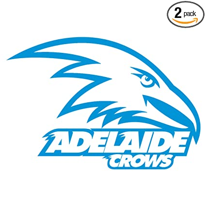 Adelaide crows logo azure blue set of 2 silhouette stencil artwork