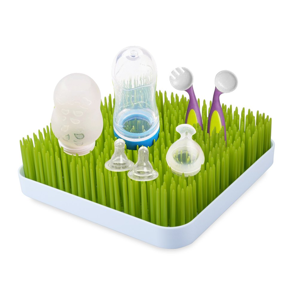 Large Bottle Drying Rack, McDou Baby Anti-Bacterial Drying Rack for Pacifier, Baby Bottles, Baby Dishes, Sippy Cups