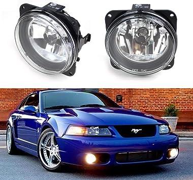 iJDMTOY Complete Set Fog Lights Foglamps with H10 9145 Halogen Bulbs For Ford Escape//Mustang Cobra//Focus SVT or Lincoln LS